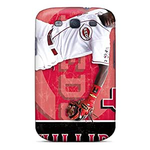 Excellent Hard Phone Cases For Galaxy S3 (GVK16671PPGr) Provide Private Custom Trendy Cincinnati Reds Pattern