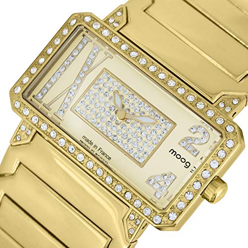 Moog Paris in Between Women's Watch with Champagne Dial, Gold Stainless Steel Strap & Swarovski Elements - M44874-004