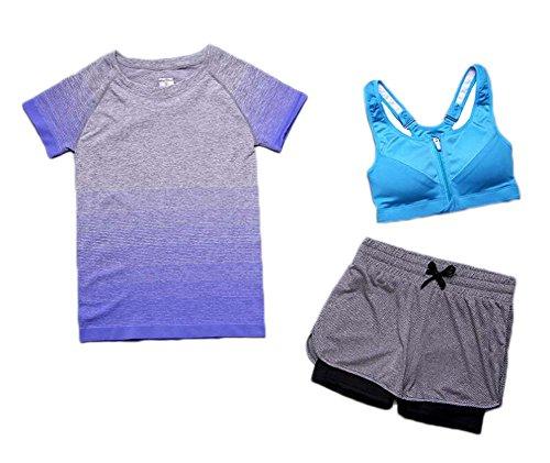 3 Vêtements Ensemble Bleu Sportif Pour Pièces Sport Athlétisme East Majik De Femmes 8gwtTxORq