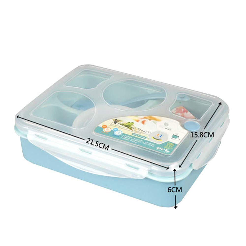 8c4988930cac Amazon.com: HAHAP Lunch Box to Go with Fruit/Yogurt Pot - Five Plus ...