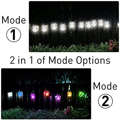Tencoz LED Star Solar String Light Curtain Decoration for Wedding Party Home Garden Bedroom Outdoor Indoor Wall Decorations (Warm White)