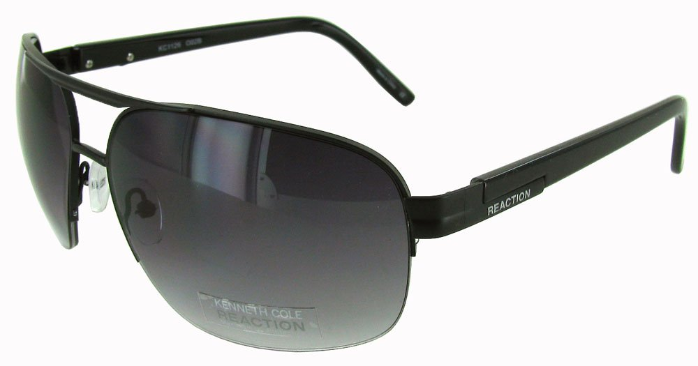 Kenneth Cole Reaction Kcr1126 002 B 65 15 Men's Aviator Black Sunglasses by Kenneth Cole Reaction