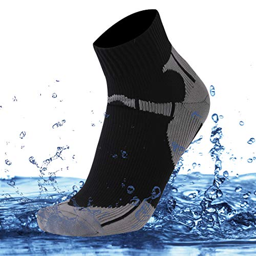 (SuMade Men's Waterproof Dry Fit Comofortable Winter Warm Biking Socks 1 Pair (Black, Large))