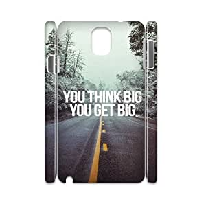 3D Samsung Galaxy Note 3 Case,You Think Big You Get Big Hard Shell Back Case for White Samsung Galaxy Note 3
