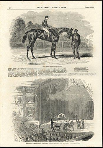 Horse Racing Winner Goodwood Cup Equestrian Acrobats 1851 antique engraved print Goodwood Cup