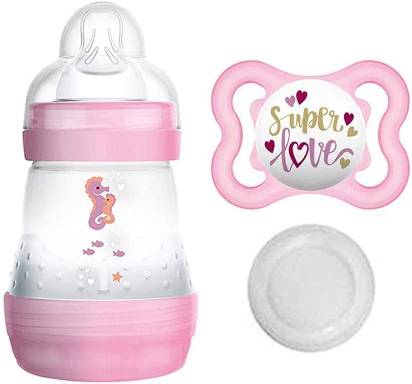 Tracyslittletreasures finti FORMULA bottiglia di latte ciuccio ~ MAMS 130ml per rinati