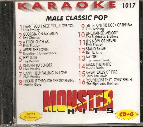 Monster #1017 Karaoke CDG MALE CLASSIC POP & OLDIES