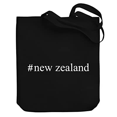 Teeburon New Zealand Hashtag Canvas Tote Bag