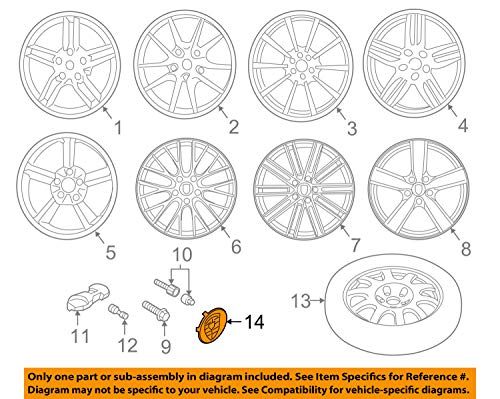 (Porsche OEM 12-17 911 Wheels-Center Cap 7L5601151JE1)