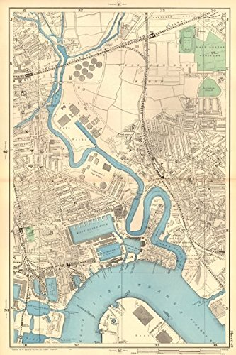 River Lea Map Amazon.com: CANNING TOWN Bromley Blackwall Bow Creek River Lea  River Lea Map