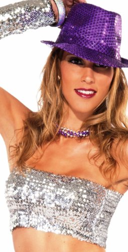 Forum Novelties Dazzle Sequin Tube-Top, Silver, One Size