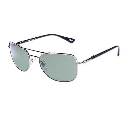 Amazon.com: Persol anteojos de sol po2420s 513/31 Gunmetal ...