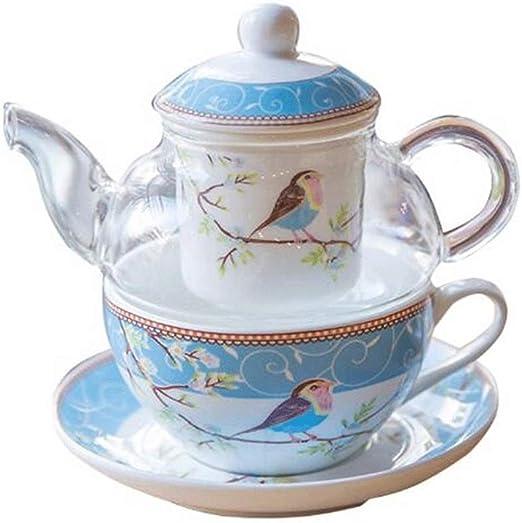 Hammer Cafetera, cerámica flor de la tetera Conjunto, de vidrio ...