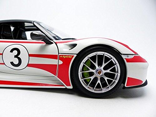 Amazon.com: Minichamps 110062441 1:18 Scale 2013 Porsche 918 Spyder Salzburg Die Cast Model: Toys & Games