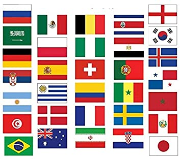 World Cup 2018 Flag Pack
