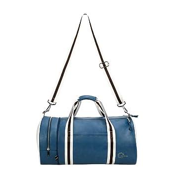 Quanjie Bolsa Gimnasio de Viaje Impermeable Bolsas Deporte PU Cuero Bolsos Deportivos Fin de Semana Travel Duffle Bag para Hombres y Mujeres