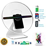 IDISKK 30CM Mounted & Portable 3D Hologram Fan Digital Holographic Display Photo/512P HD Video at Home,Office,Entertainment and Shops,Remote Control 160 Degree Wide Viewing Angle,iDiskk 12inch