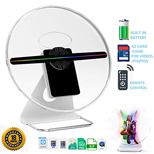 iDiskk Mini-Size 30CM Mounted & Portable 3D Hologram Fan Digital Holographic Display Photo