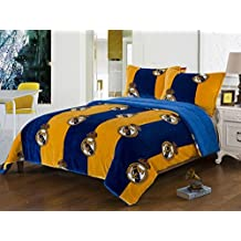 Real Madrid 2pc Twin Blanket set with Sherpa Lining and 1 pillow sham