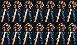 "Black & Orange Fall Halloween Party Wedding Bows Pew Bows Church Decorations Set of 14 9""x22"""
