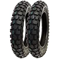 SET OF TWO: Knobby Tire 3.00-10 Front or Rear Trail Off...