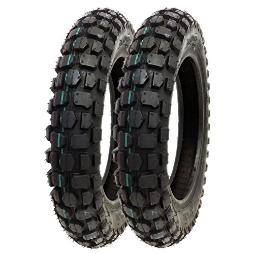- MMG Set of 2 Knobby Tire 3.00-10 Front or Rear Trail Off Road Dirt Bike Motocross Pit