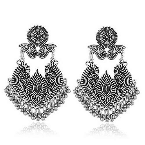 (Tomikko Vintage Bohemian Boho Style Tibetan Beads Tassel Dangle Earrings Womens Jewelry | Model ERRNGS - 12094 |)