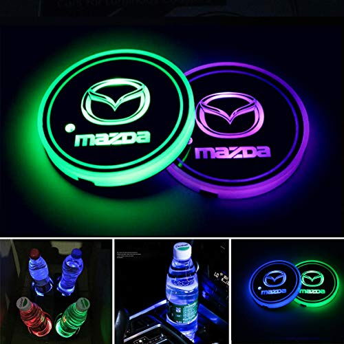 Hearty 2pcs Waterproof Solar Led Car Cup Holder Bottom Pad Drinks Mat Car Led Atmosphere Lamp For All Car Colours Are Striking Automobiles & Motorcycles