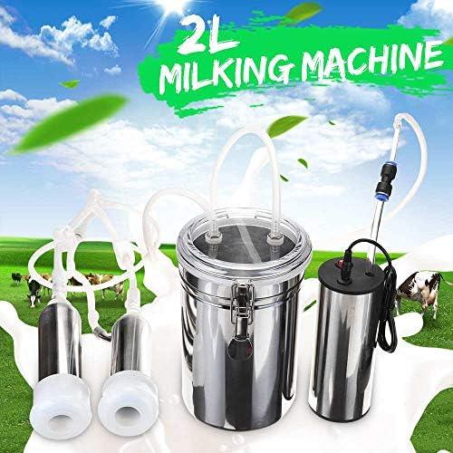 2L 24Wステンレススチール電動搾乳機牛用搾乳機ダブルアップグレードバージョン牛用牛乳吸引ヘッド