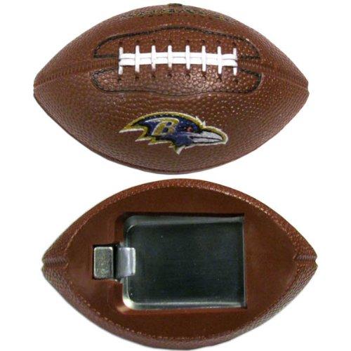 (NFL Baltimore Ravens Football Bottle Opener Magnet, 3-Inch, Brown)
