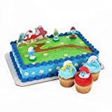 Smurfs Cake Topper and 24 Cupcake Topper Rings
