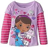 Disney Girls'  Doc Mcstuffin Care Long Sleeve T-Shirt