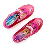 Disney's Authentic , Disney Princess Pink Shimmer Glitter Formal Costume Shoes For Girls / Kids - Size 12