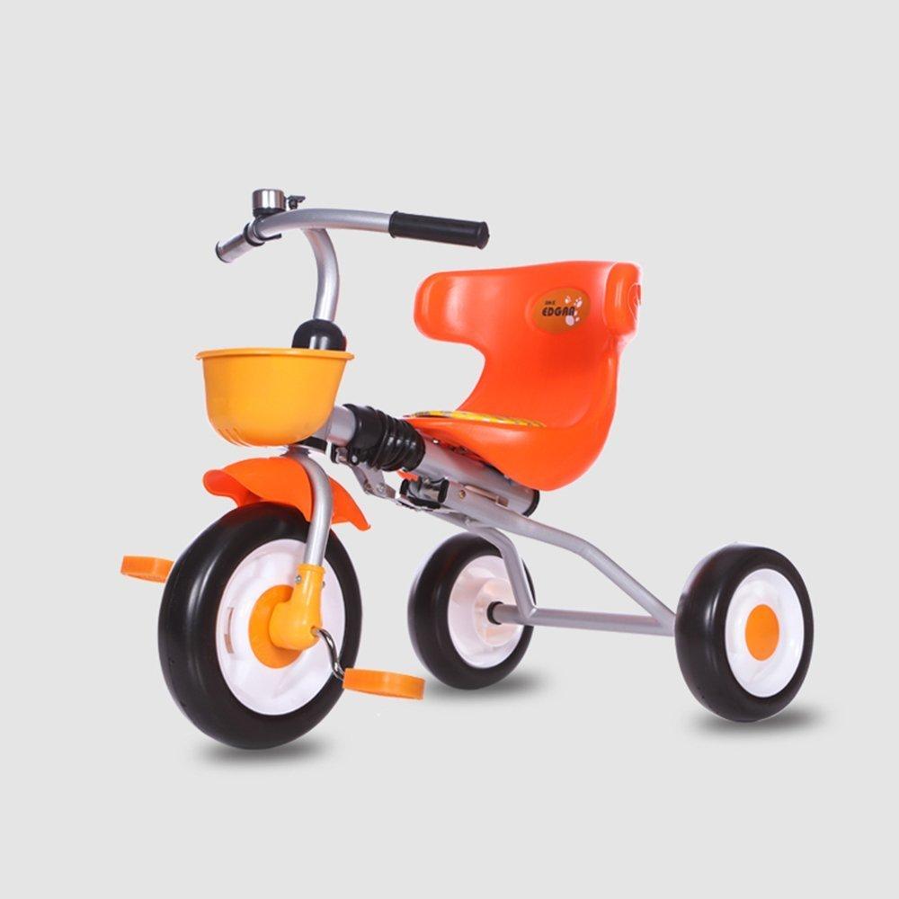 grandes ahorros DACHUI niños plegable plegable plegable triciclo, bicicleta, moto, bebé luz de 1-3 años de edad baby carriage (Color : Naranja)  artículos novedosos