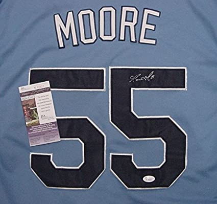 479d32d296e Image Unavailable. Image not available for. Color  Matt Moore Tampa Bay Rays  Autographed ...