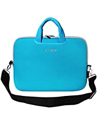 "iColor Blue 16"" 16.5"" 17"" 17.3"" Netbook / Laptop Ultra-Portable Neoprene Sleeve Carrying Case Briefcase Handle Bag Pouch Tote for Apple MacBook Pro, Lenovo, HP, Dell, Tosh…"
