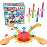 Dodgeball - A Fast Paced Family Game of Action and Skill - Dodge and Stack Your Dodgeballs Without Losing Your Head - Ages 8 and Up