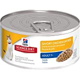 Hill's Science Diet Adult 7+ Savory Chicken Entree Minced Cat Food, 5.5-Ounce Can, 24-Pack