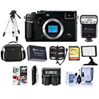 Fujifilm X-Pro2 Mirrorless Digital Camera Body, Black - Bundle with Camera Bag, 64GB SDXC Card, Spare Battery, Flashpoint Zoom-Mini TTL R2 Flash, Video Light, Dual Charger, Tripod, And More