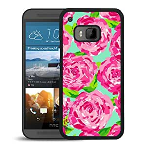 Lilly Pulitzer 12 Black HTC ONE M9 Screen Phone Case Newest and Genuine Design