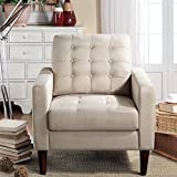 Rosevera Amore Tufted Button Accent Arm Chair, Beige