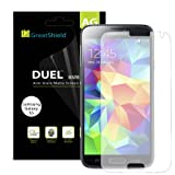 GreatShield(TM) Samsung Galaxy S5 V 2014 [DUEL MARK II][Anti-Glare (Matte) Finish] Anti-Scratch PREMIUM Screen Protector Shield Film (3 Packs) - Lifetime Replacement Warranty