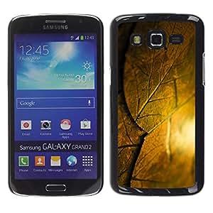 Be Good Phone Accessory // Dura Cáscara cubierta Protectora Caso Carcasa Funda de Protección para Samsung Galaxy Grand 2 SM-G7102 SM-G7105 // Sun Leaf Nature Autumn Summer