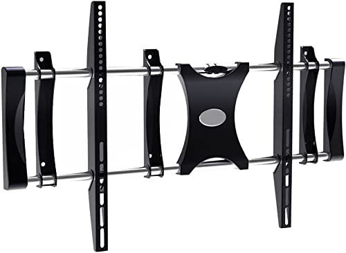 Universal Fixed TV Wall Mount – Slim Quick Install VESA Mounting Bracket for TV Monitor, Mounts 50 to 80 Inch HDTV, LED, LCD, Plasma, Flat, Ultrawide Smart Television Up to 176 LBS – Pyle PSW521XLF