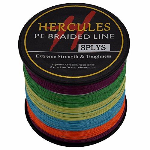 HERCULES 500m 547yds Multicolor 10lbs-300lbs Pe Braid Fishing Line 8 Strands (30lb/13.6kg 0.28mm)