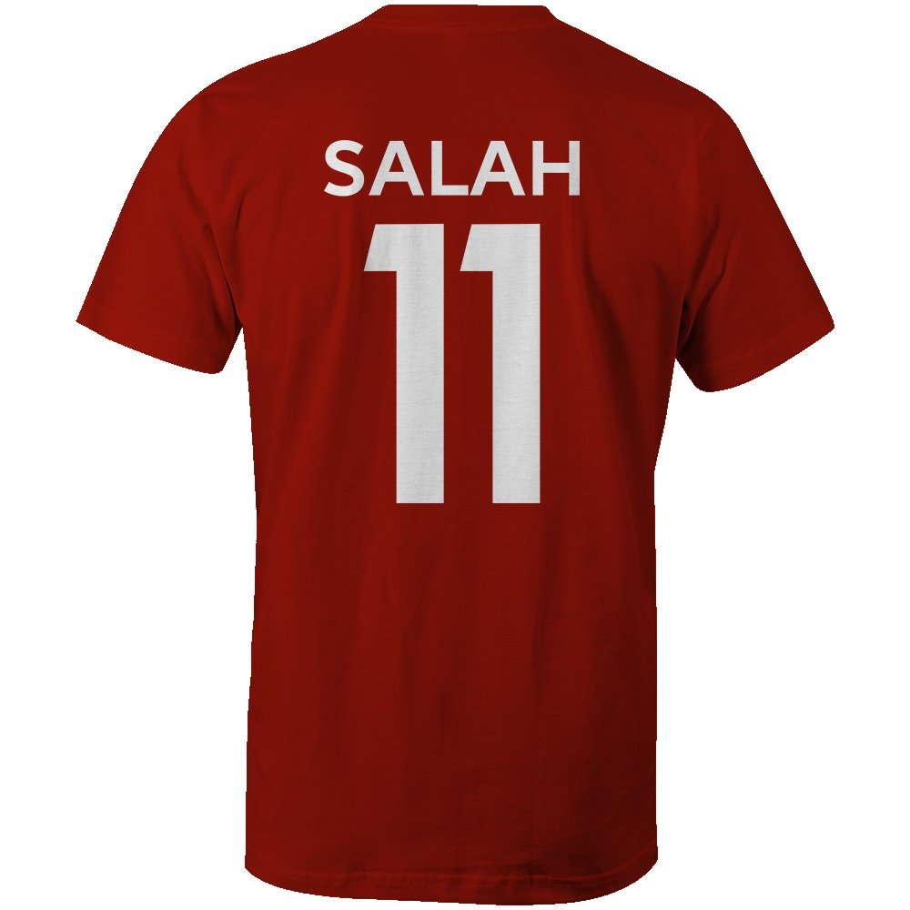 Mohamed Salah 11 Club Player Style Kids T-Shirt Red//White