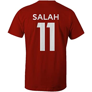 Mohamed Salah 11 Club Player Style Kids T-Shirt Red/White, Small ...