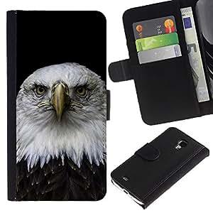 All Phone Most Case / Oferta Especial Cáscara Funda de cuero Monedero Cubierta de proteccion Caso / Wallet Case for Samsung Galaxy S4 Mini i9190 // Handsome Eagle Falcon Hawk