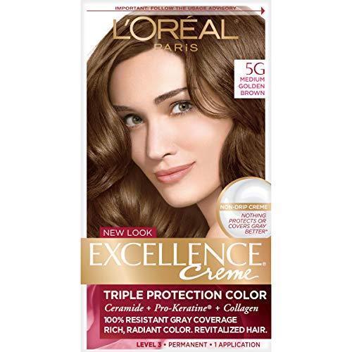 L'Oreal Paris Excellence Creme Hair Color, Medium Golden Brown (3 ()