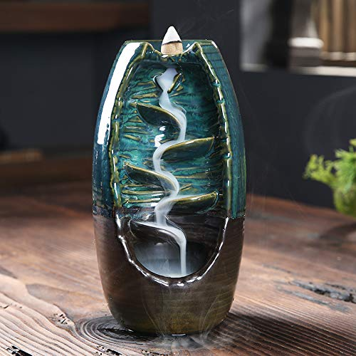 Mosfantal Waterfall Backflow Incense Cones Burner Holder by Mosfantal